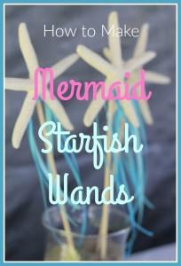 how to make mermaid starfish wands