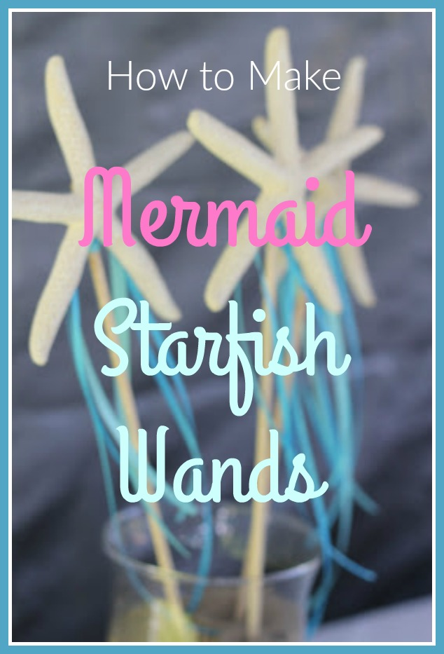 how to make mermaid starfish wands