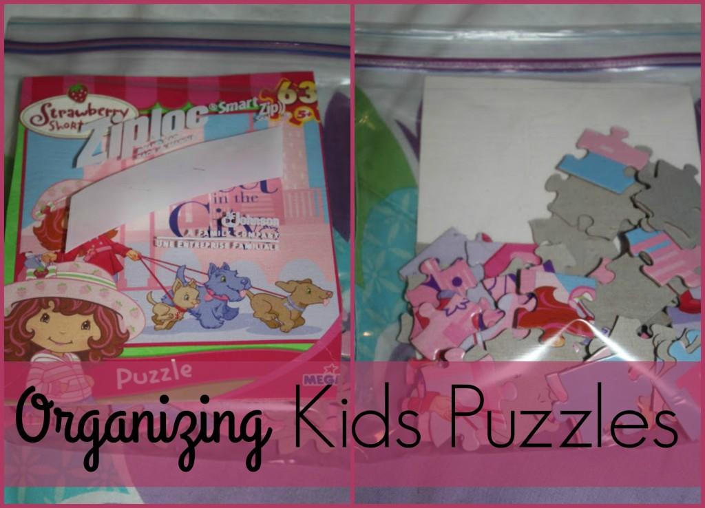 organizing kids puzzles