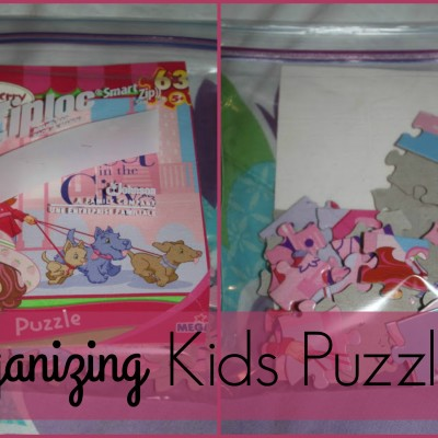 Organizing Tip: Storing Kids Puzzle Pieces