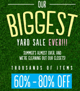 6pm Annual Yard Sale – GREAT DEALS! & FREE Shipping!