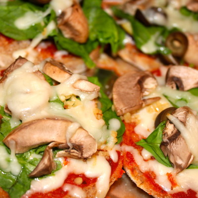 Getting Healthy – Whole Wheat English Muffin Pizzas