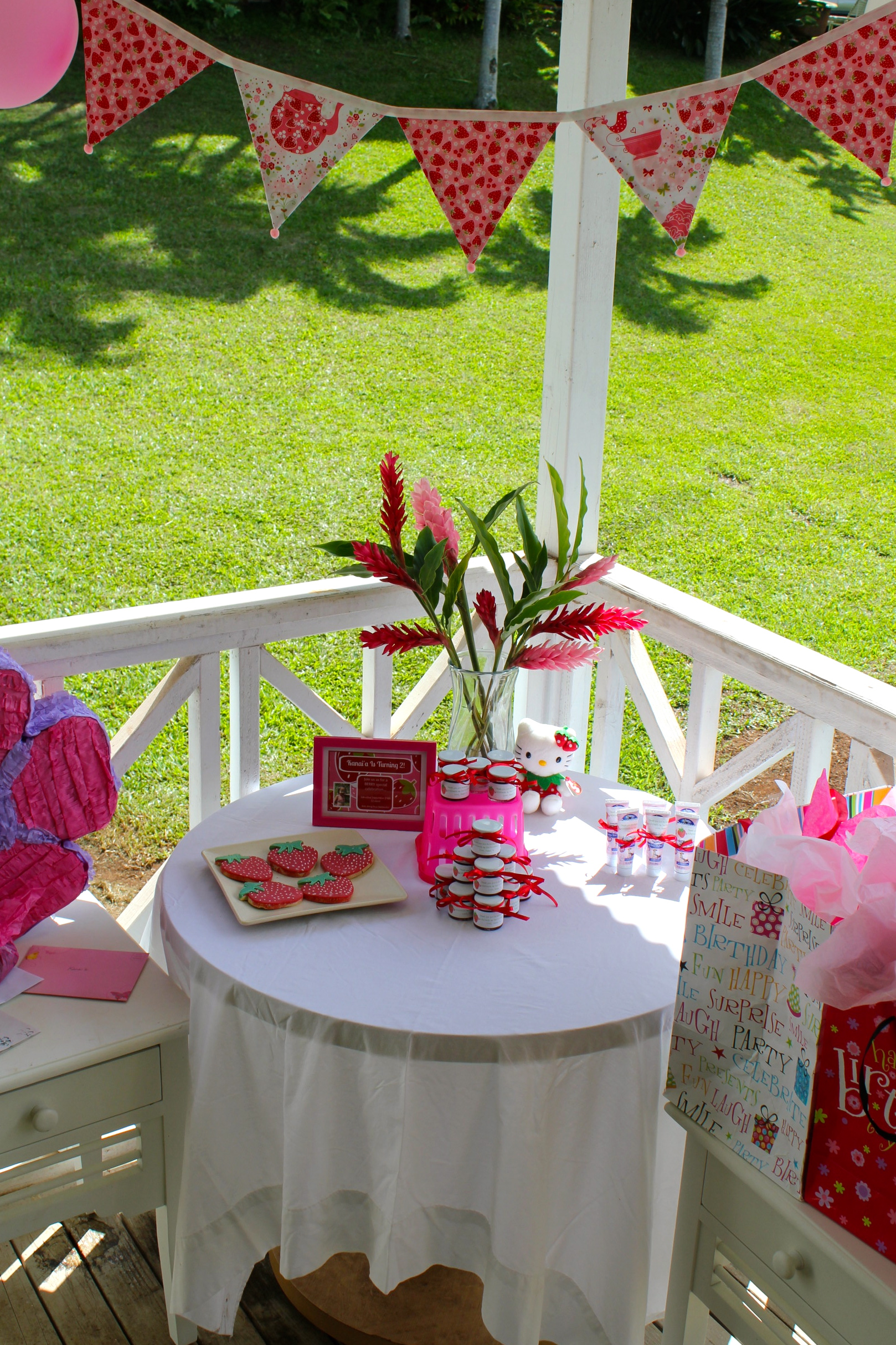 Strawberry 2nd birthday party livin 39 the mommy life for 2nd birthday decoration ideas