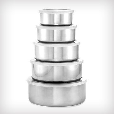 *HOT DEAL*  $5.00 for a 5 pc. Stainless Steel Food Storage Set – ($59.99 value)