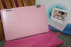 pink netbook laptop wolvol
