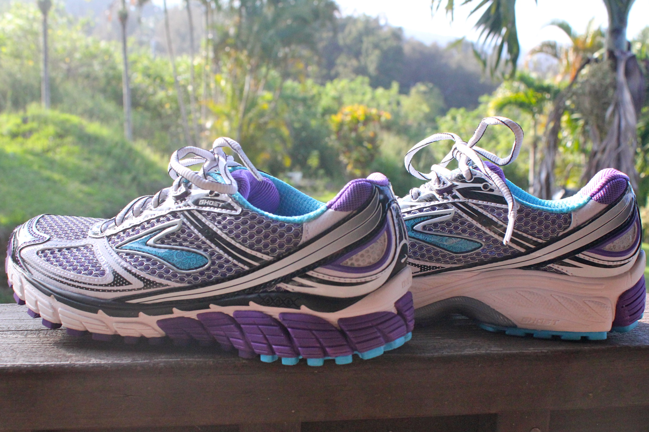 purple brooks shoes