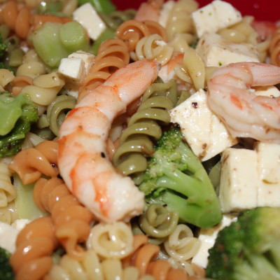 Simple Shrimp & Broccoli Pasta Salad