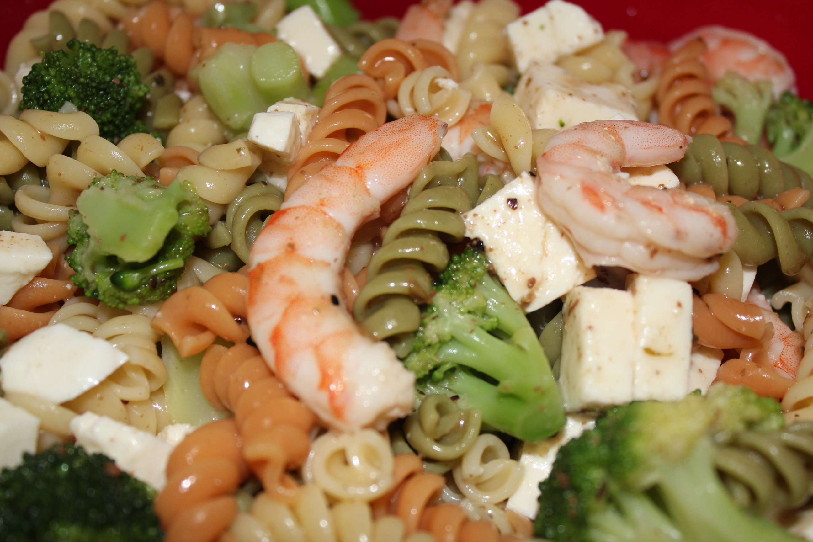 shrimp pasta salad broccoli