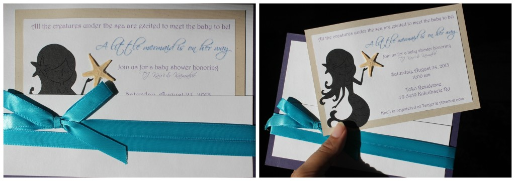 baby shower invite mermaid