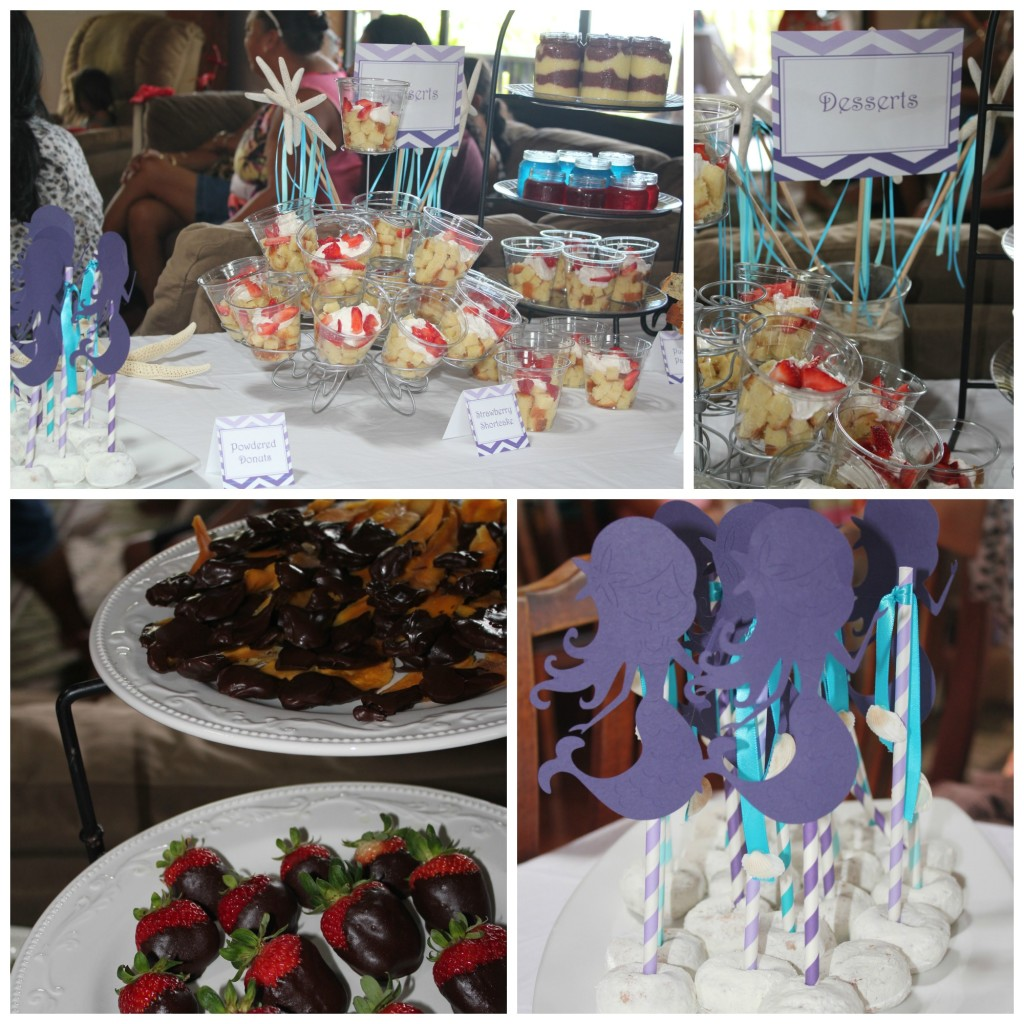 mermaid baby shower desserts