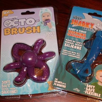 Baby Banana Octo-Brush & Baby Sharky Brush *2013 Holiday Gift Idea*
