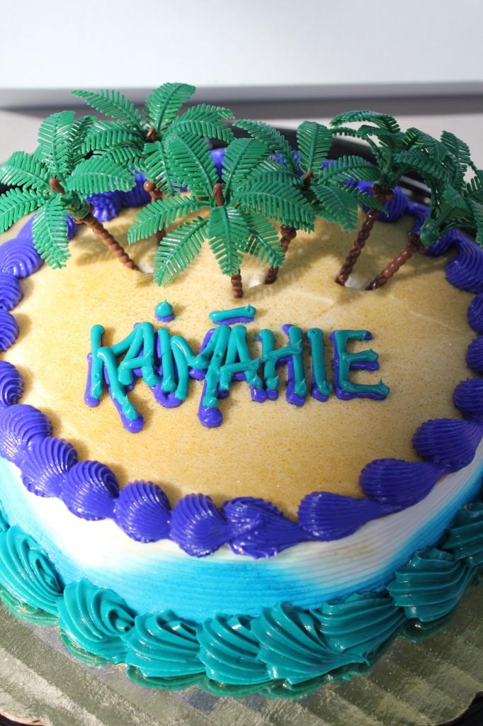 palm tree birthday smash cake