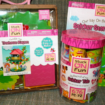 PomTree Twinkle Top Treehouse Playset, Sticker Tub, & Sticker Storybook *2013 Holiday Gift idea*