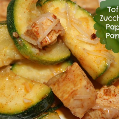 Tofu and Zucchini using Pompeian Olive Oil