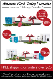 silhouette black friday deals coupon codes