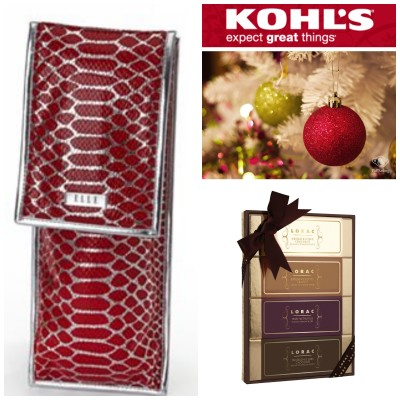 ELLE Cosmetics Heat Instrument Bag & LORAC Cosmetics Palette from KOHL'S *2013 Holiday Gift Ideas*