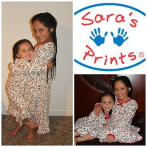 saras prints christmas nightgowns