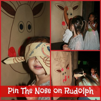 Pin The Nose on Rudolph Game