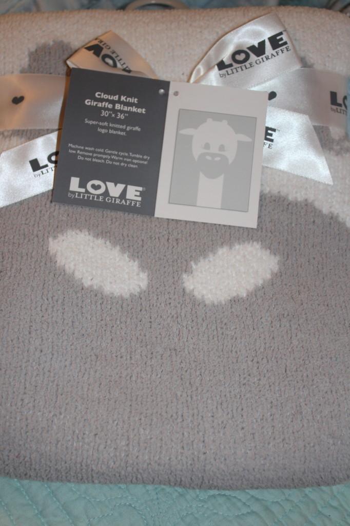love by little giraffe logo blanket