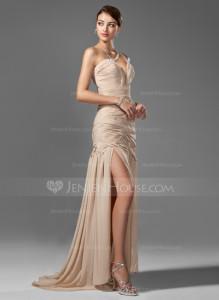 gold mermaid prom dress