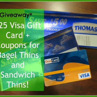 Giveaway: $25 Visa Gift Card Giveaway + Sandwich Thins & Bagel Thins Coupons