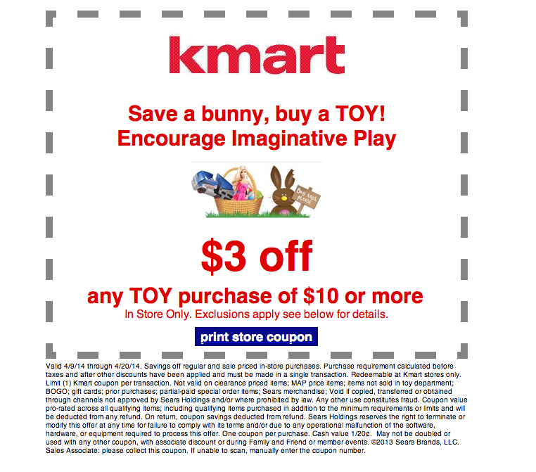 kmart toy purchase coupon