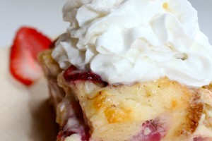 Strawberry Cheesecake Bread Pudding