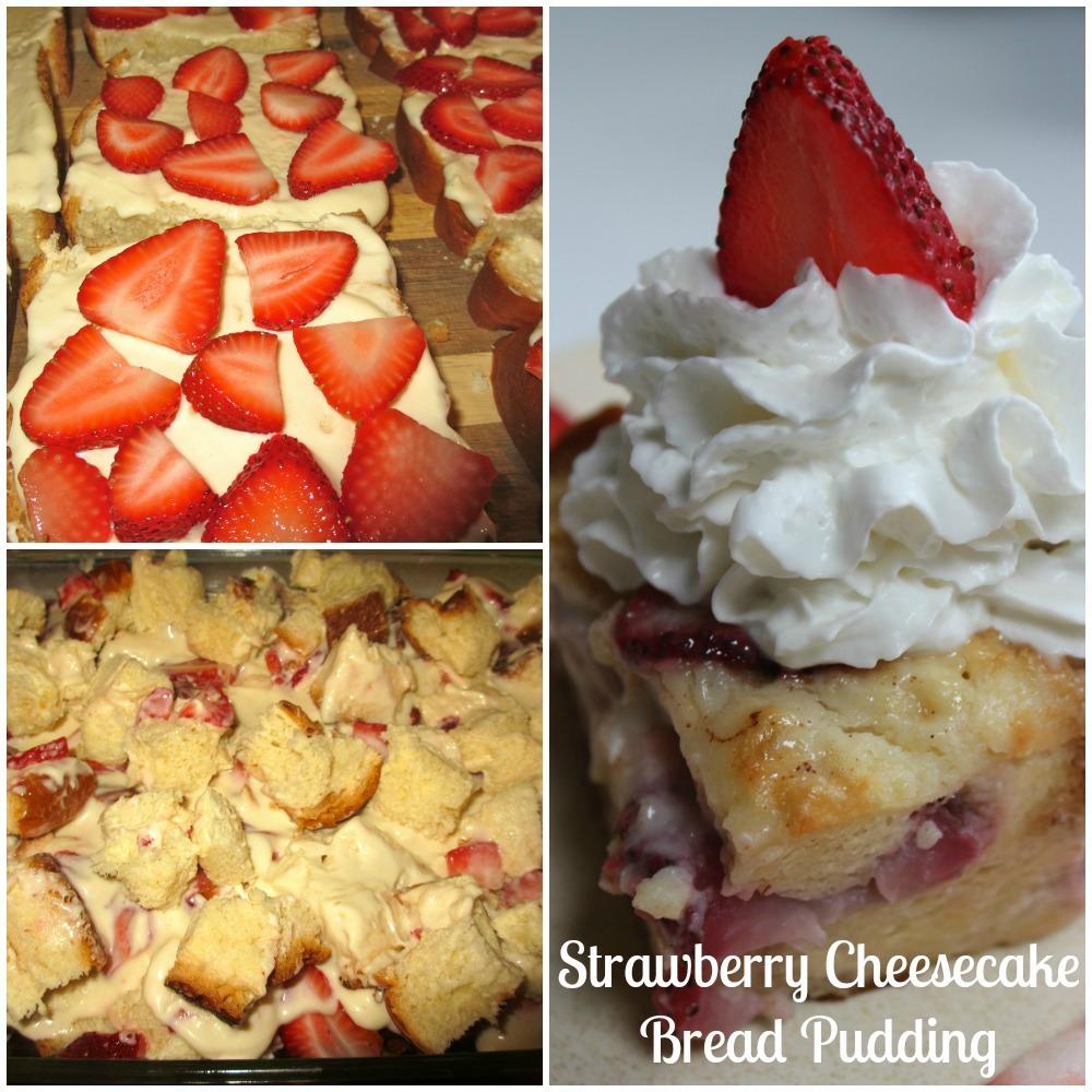 Strawberry Cheesecake Bread Pudding Recipe