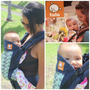 tula wave print baby carrier