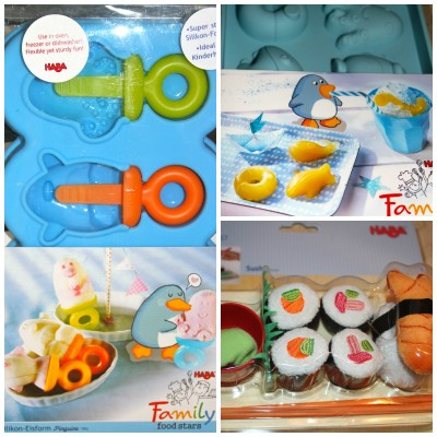 Silicone Popsicle & Ice Cube Trays + Sushi Set from HABA – Review & Giveaway
