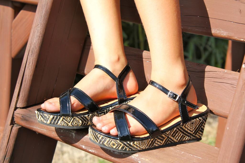 tribal wedge girls sandals