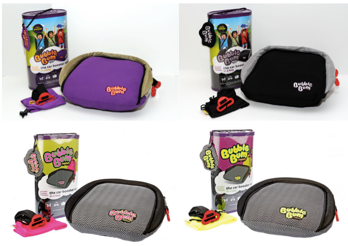 BubbleBum Booster color options