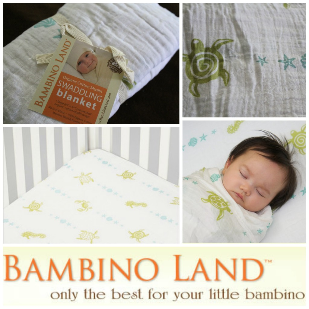 bambinoland organic swaddles and crib sheets