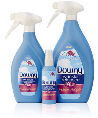 Downy Wrinkle Releaser Plus Gets the Wrinkles out Without Ironing