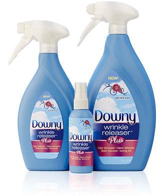 downy wrinkle releaser spray