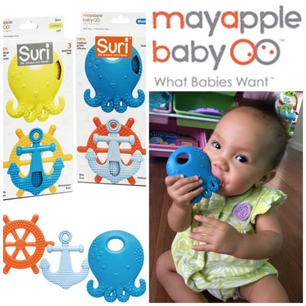 mayapple baby suri nautical baby teethers