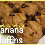 Whole Wheat Chocolate Chip Banana Muffins