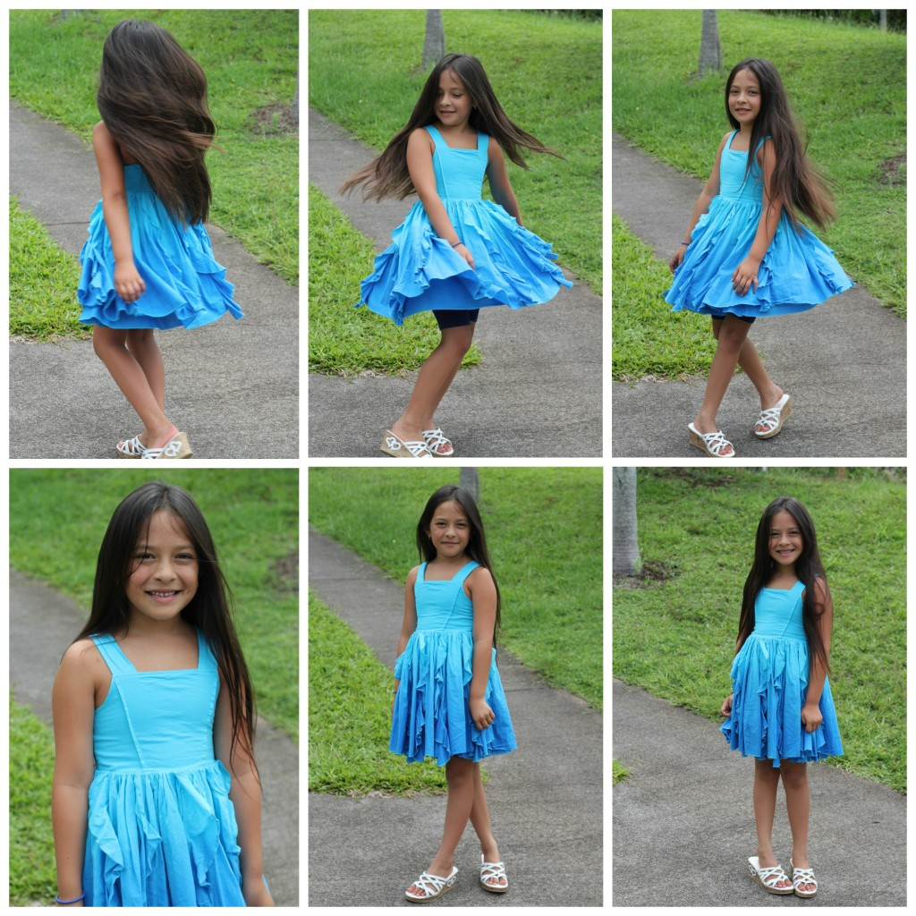 FabKids Summer Blue Dress