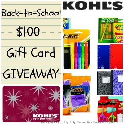 $100 Kohl's Gift Card Giveaway #Kohls101