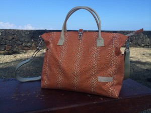 lina jake orange snakeskin print diaper bag beach
