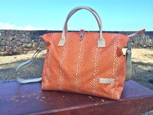 Lina Jake orange diaper bag