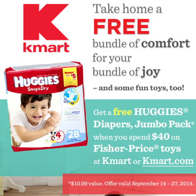 FREE Huggies Diapers at Kmart