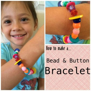 diy bead and button bracelet