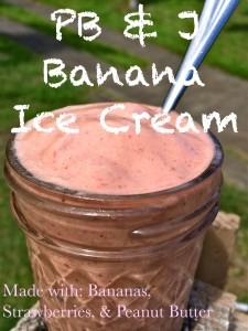 peanut butter and jelly banana ice cream