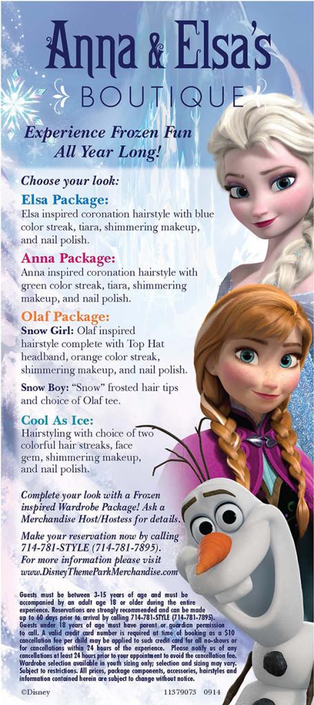 frozen makeovers anna & elsa's boutique