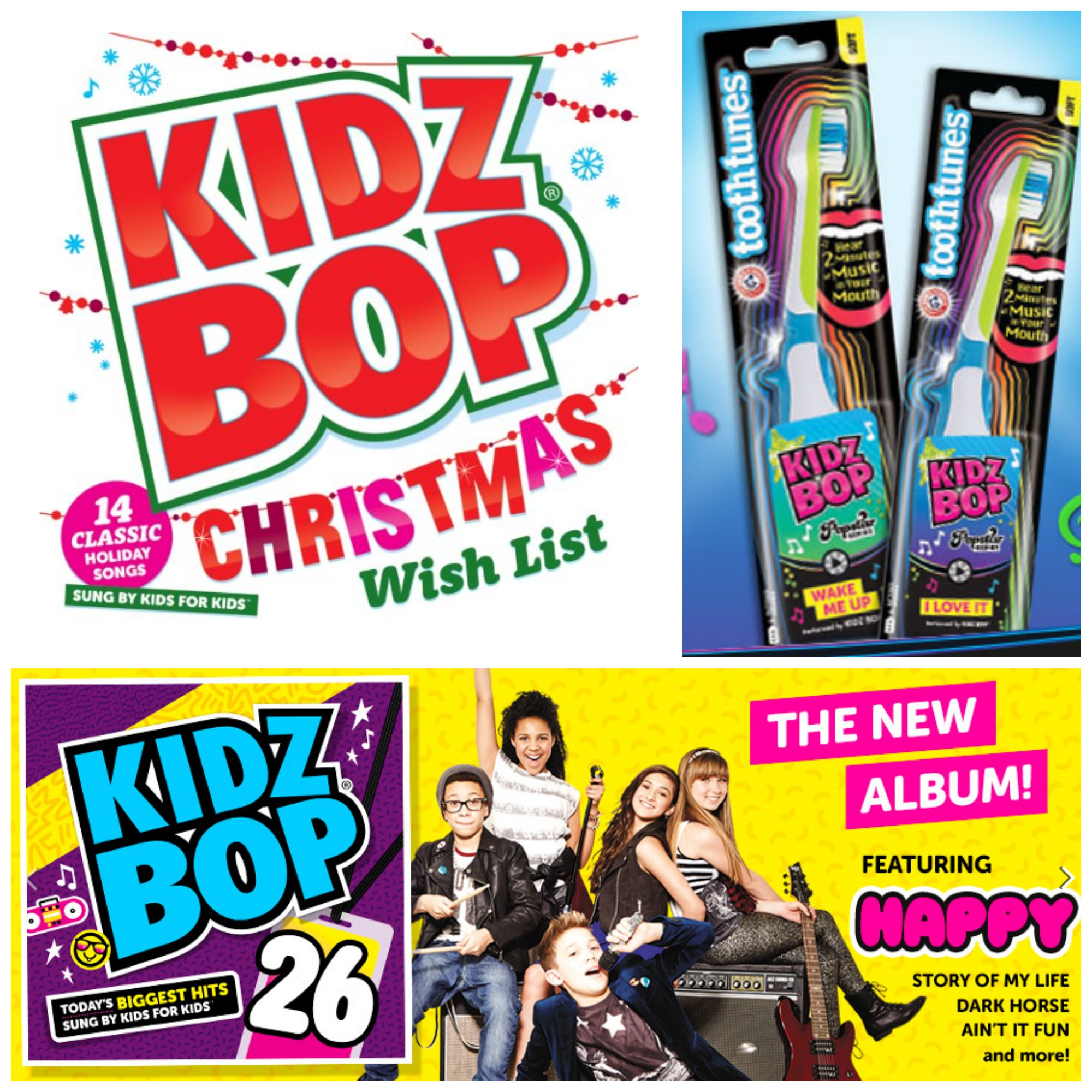 KIDZ BOP CD\'s & Tooth Tunes Toothbrush *Holiday Gift Guide* | Livin ...