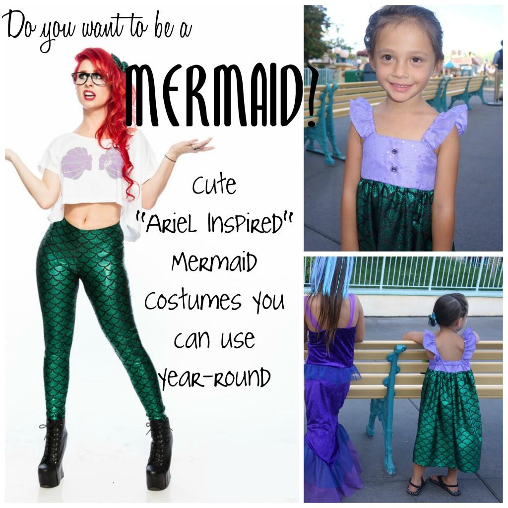 ariel inspired mermaid costumes