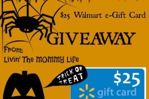 Happy Halloween $25 Walmart Gift Card Giveaway