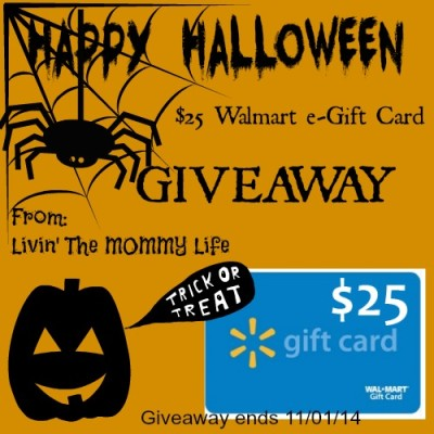 Happy Halloween $25 Walmart Gift Card Giveaway