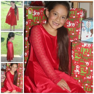 FabKids November Hilina'i Red Christmas Dress